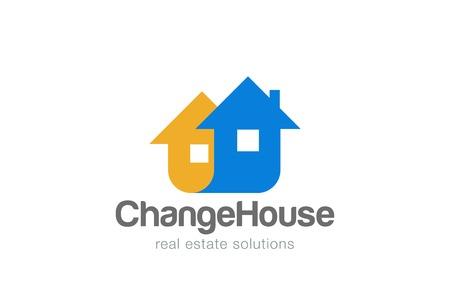 Real Estate Logo abstract ontwerp vector sjabloon. Bouwconstructie bedrijf logo concept pictogram