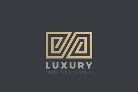 Luxury symbol abstract Logo design vector template. Z letter Gold Labyrinth maze Logotype concept icon