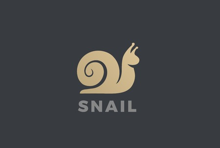 Snail silhouette abstract design template Illustration