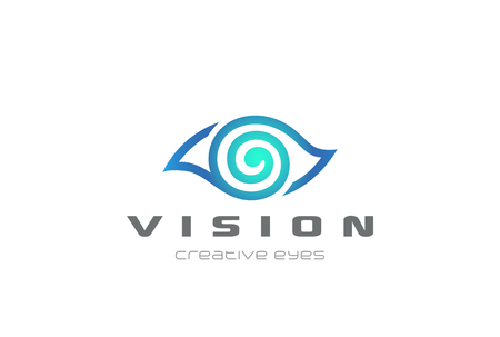 Eye Vision design template in linear style. Illustration