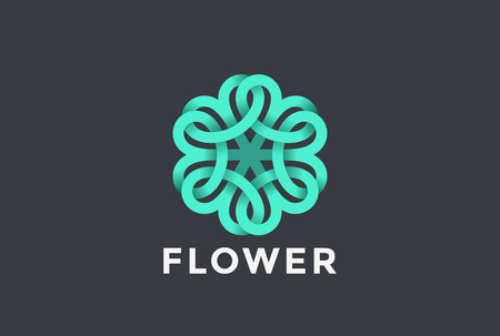 Flower abstract design vector in infinite shape.