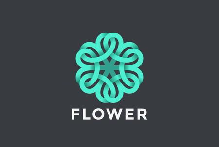 Vector de diseño abstracto de flor en forma infinita. Foto de archivo - 84399035