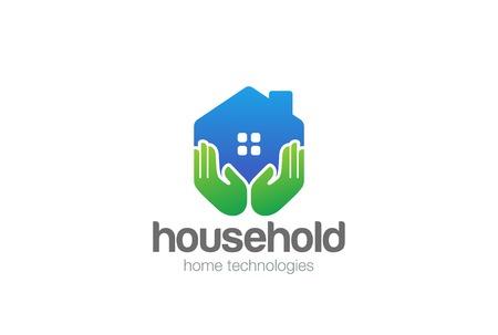 Real Estate House holds design template Illustration