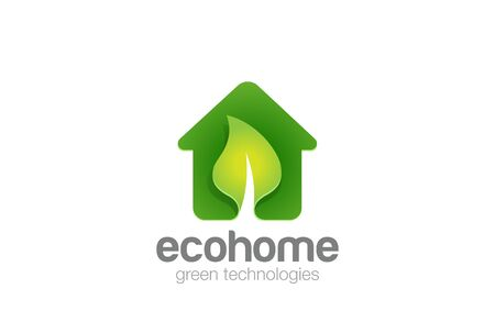 Green Eco House Real Estate design template