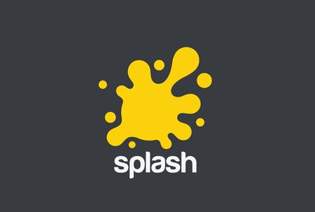 Splash Liquid Juice Water Drink ontwerpsjabloon.