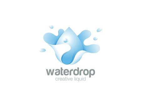 물 방울 스플래시 추상 디자인 서식 파일입니다.