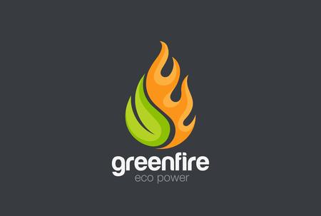 Eco groene alternatieve energie ontwerpsjabloon.