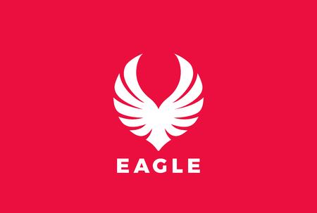Eagle, die aufsteigende Flügelentwurfsschablone ansteigt. Standard-Bild - 84399317