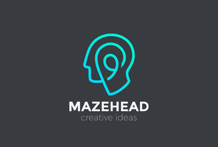 Head abstract design template