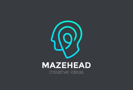 Kopf abstrakte Design-Vorlage
