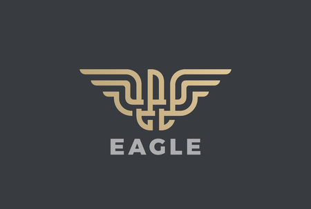 Golden Eagle design template in Geometric Emblem.