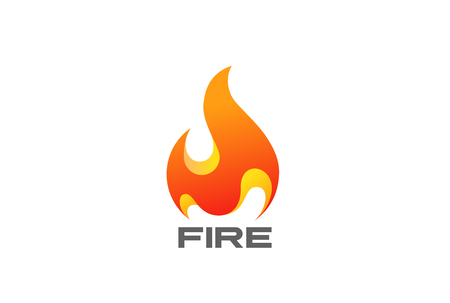 Fire Flame design template