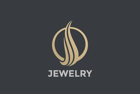 Gold Luxury Fashion Elegant Circle abstract design template.