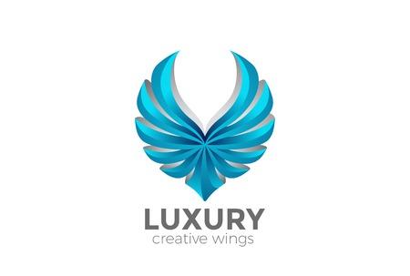 Eagle Wings Logo Design Vektor Vorlage. Firmenheraldische Falcon Phoenix-Falkenvogel Firmenzeichenkonzeptikone des Luxus Standard-Bild - 84792369