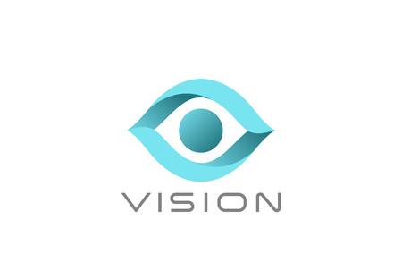 Eye Logo abstract design vector template.  Vision SPY Search Logotype concept icon