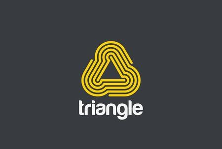 Triangle lus oneindige Logo abstract ontwerp vector sjabloon Lineaire stijl. Infinity Loop-technologie neon Logotype concept pictogram