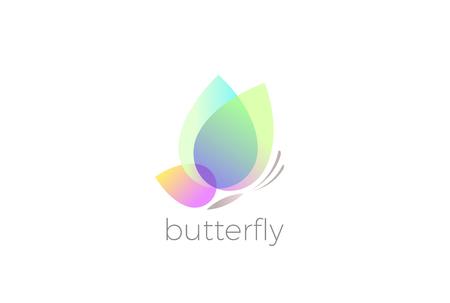 나비 로고 디자인 벡터 템플릿