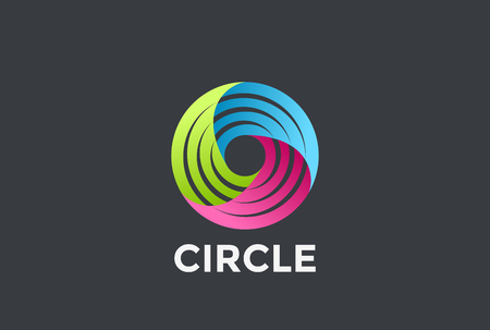 Social Teamwork infinite Circle Logo loop design vector template.  Infinity Friendship Partnership Community Logotype concept icon