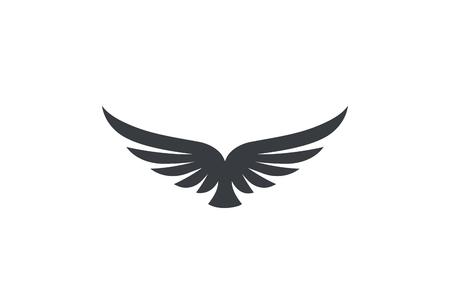 Aigle s'élevant en hausse des ailes Logo modèle de conception de vecteur. Héraldique corporatif de luxe volant Falcon Phoenix Hawk bird Logotype concept icon