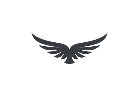 Eagle soaring rising Wings Logo design vector template.  Luxury corporate heraldic flying Falcon Phoenix Hawk bird Logotype concept icon