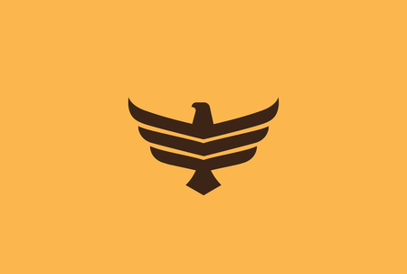 Eagle flying soaring Logo design vector template.