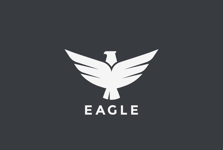 활공 비행 독수리 로고 디자인 벡터 템플릿입니다. 버드 팔 콘 호크 전 령 로고 타입 개념입니다. 문장 아이콘