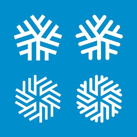 Sneeuwvlokken vector ontwerpsjablonen. Vrolijke Kerstmis en gelukkig Nieuwjaar decoratie symbolen