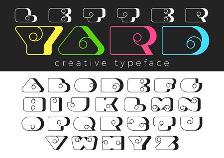 Funny Entertainment Children vector Font design