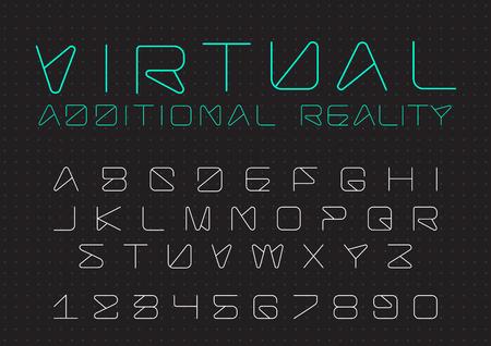Futuristische vector Lettertype ontwerp Stockfoto - 89607865