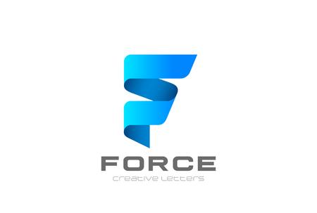 Emblembanddesignzusammenfassungs-Vektorschablone des Buchstaben F Standard-Bild - 89607867
