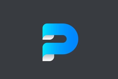 Emblembanddesignzusammenfassungs-Vektorschablone des Buchstaben P Standard-Bild - 89608323