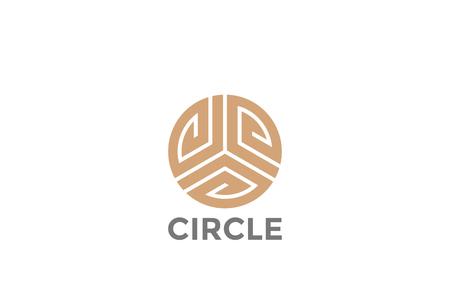 Círculo de lujo de lujo moda triángulo logotipo plantilla de diseño abstracto vector Foto de archivo - 91003286