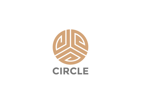 Gold Circle luxury fashion infinity Loop Logo design abstract vector template Иллюстрация