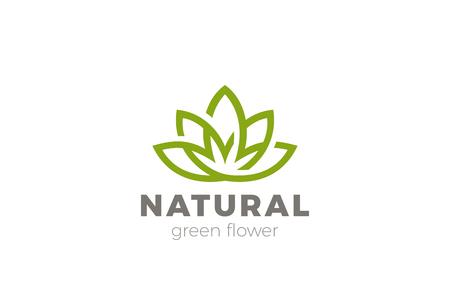 lotus abstrait lotus conception abstraite logo vecteur . résumé logo de luxe naturel de yoga . vecteur icône de la santé