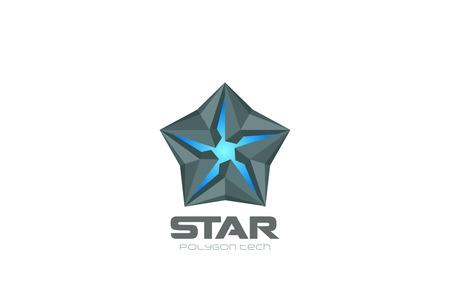 Technology Star Logo abstract design vector template. Hi-tech sci-fi Logotype concept icon symbol
