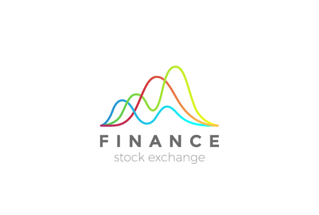 Business Finance Stock Exchange Market Charts Logo design abstract vector template Stock fotó - 93119561
