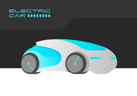 Elektrische auto Auto Poster kaart Banner ontwerp vector sjabloon