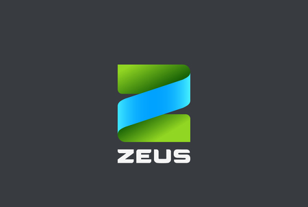 lettre z logo template vecteur de conception abstraite de template