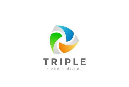 logotipo de la plantilla de diseño de logotipo de vector abstracto . icono de logotipo de concepto de red social