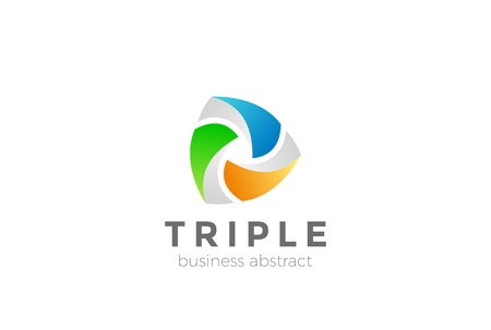 Teamwork Logo abstract design vector template. Social media network Logotype concept icon