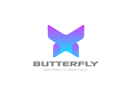 Illustration of a butterfly geometric design vector template