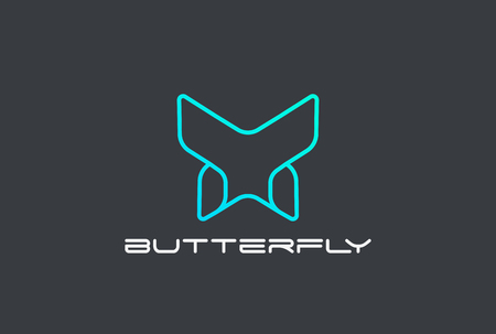 Butterfly geometric design abstract Logo vector template