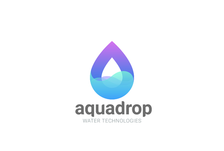 Water droplet abstract Logo design vector template