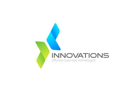 Pijlen in twee richtingen gericht op Corporate Invest, Business Logo ontwerp vector sjabloon