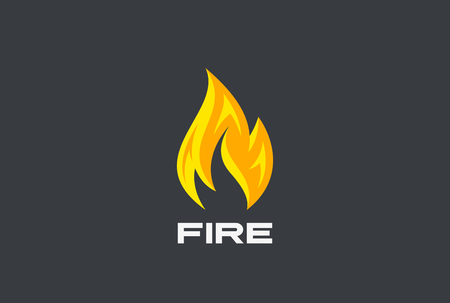 Fire Flame Logo design vector template.  Burning Inferno Energy Power Logotype concept icon