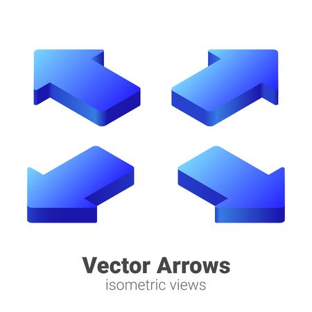 Isometric Arrows Vector set