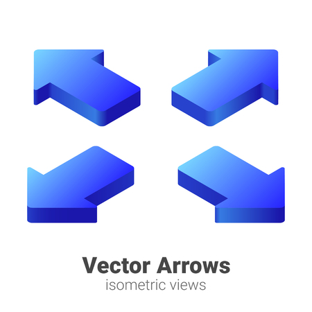 Isometric Arrows Vector set