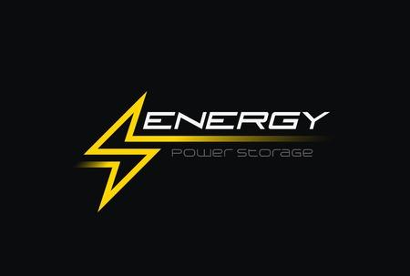 Flash Thunderbolt Energy Power ilustración diseño vector plantilla estilo lineal. Icono de concepto de batería de electricidad de alta velocidad