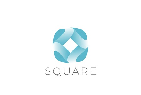 Square Rounded icon abstract design vector template. Corporate Business  concept icon