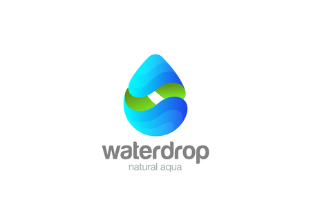 Water drop icon design  template. Mineral Natural Clear Aqua droplet  concept liquid drink concept icon